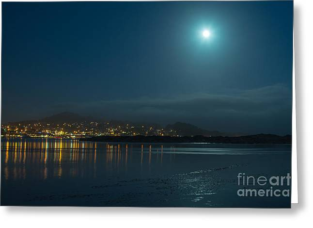 Morro Bay At Night Greeting Card