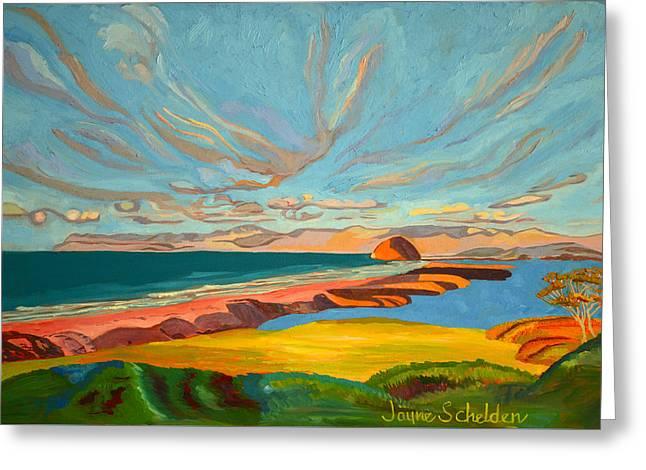 Morro Bay Sandspit Greeting Card