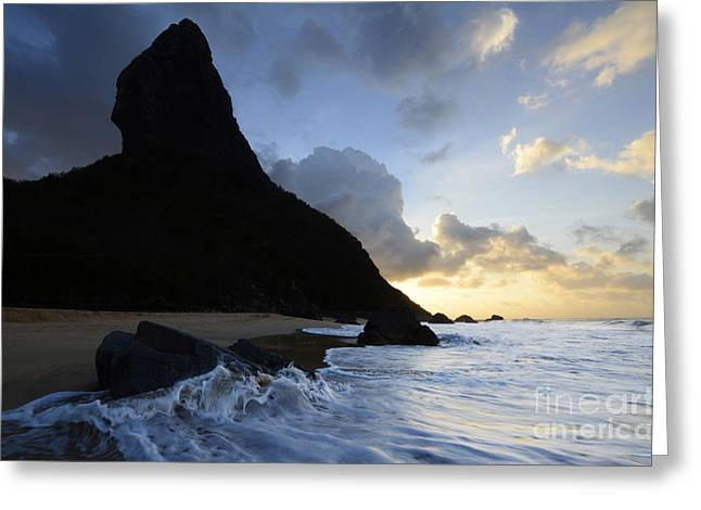 Morro Do Pico Brazil Evening Light Greeting Card by Bob Christopher