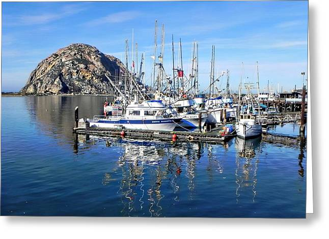 Greeting Card featuring the photograph Morro Rock by Kathy Churchman