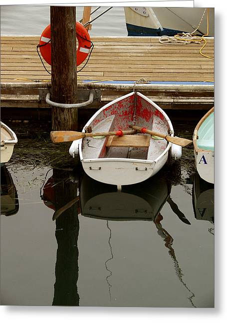 Morrow Bay Skiff Greeting Card