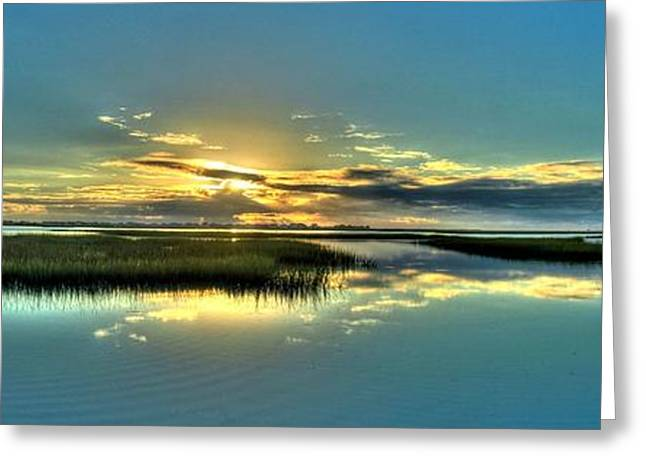 Morse Park Landing Sunrise Greeting Card by Ed Roberts