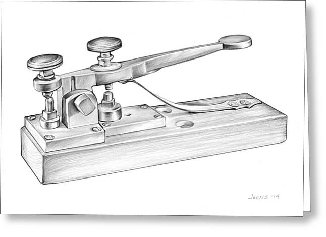 Morse Telegraph Greeting Card by Greg Joens