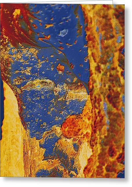 Mortal Bleu Flambe Greeting Card
