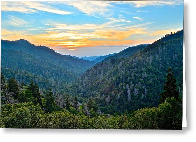 Mortons Overlook Smnp Greeting Card by Frozen in Time Fine Art Photography