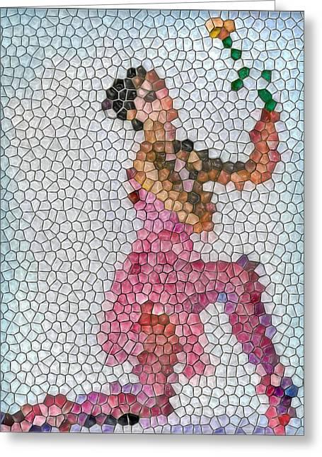 Mosaic Ballerina Greeting Card by Nina Bradica