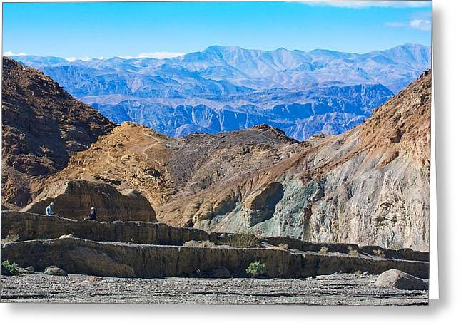 Greeting Card featuring the photograph Mosaic Canyon Picnic by Stuart Litoff