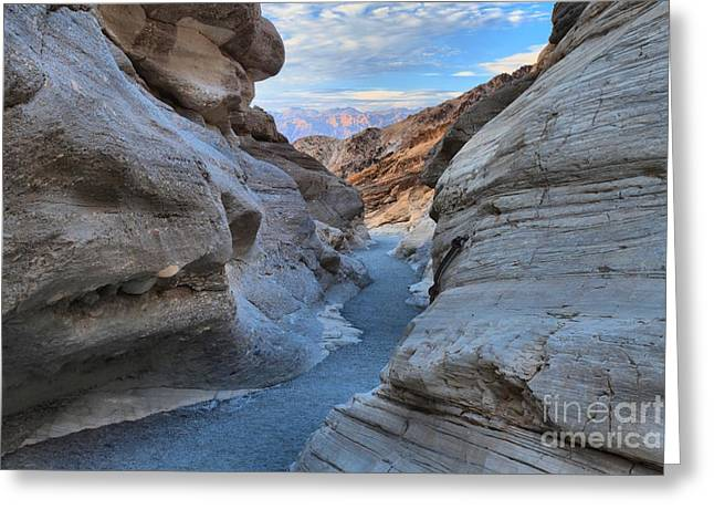Mosaic Canyon Twilight Greeting Card by Adam Jewell