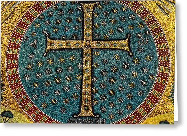 Mosaic Cross Ravenna I Greeting Card