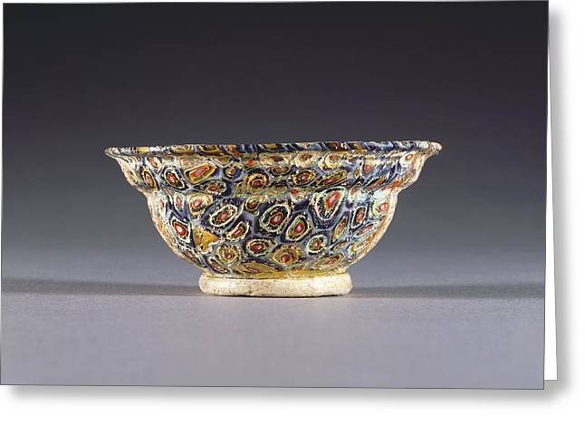 Mosaic Glass Bowl Unknown 1st Century B.c. - 1st Century Greeting Card by Litz Collection