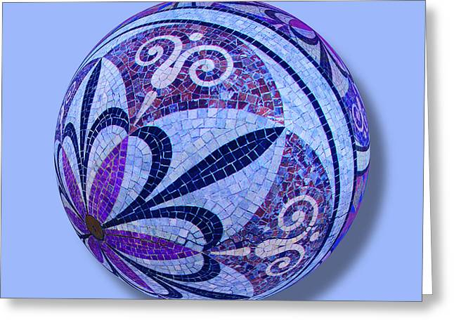 Mosaic Orb 1 Greeting Card by Tony Rubino