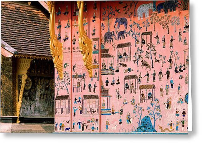 Mosaic, Wat Xien Thong, Luang Prabang Greeting Card