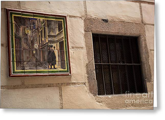 Mosaic Window Greeting Card by Rene Triay Photography