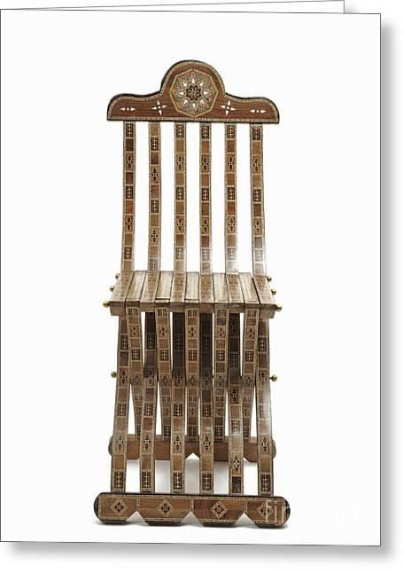 Mosaic Wooden Chair Greeting Card