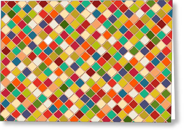 Mosaico Greeting Card by Sharon Turner