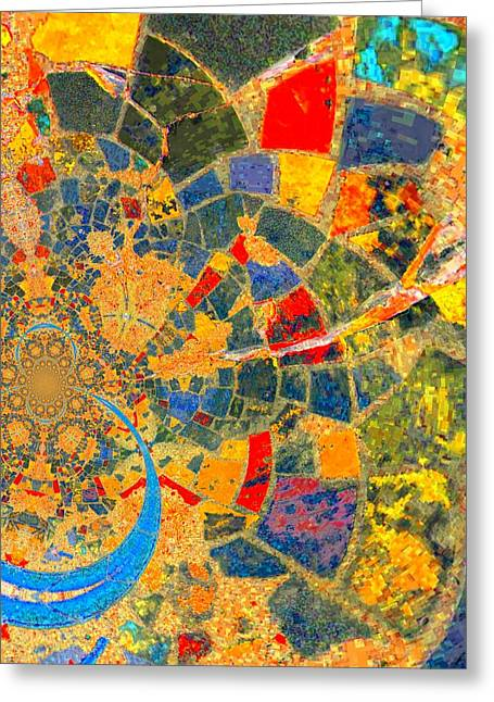 Mosaik Greeting Card by Nico Bielow