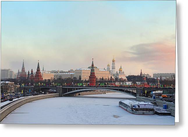Moscow Kremlin In Winter Greeting Card