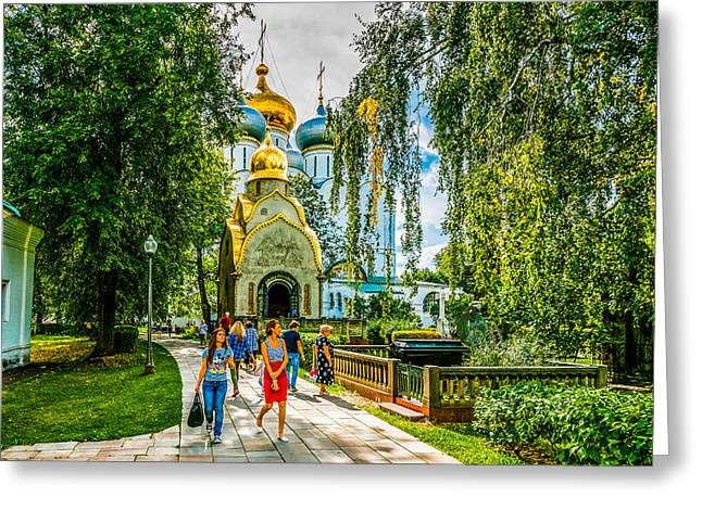 Moscow Novodevichy Convent Entrance Greeting Card by Alexander Senin