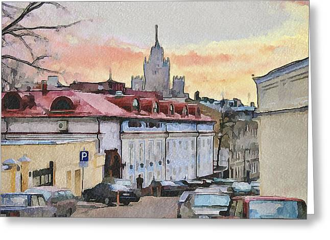 Moscow Old Streets 1 Greeting Card by Yury Malkov
