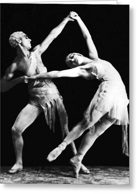 Moscow Opera Ballet Dancers Greeting Card by Underwood Archives