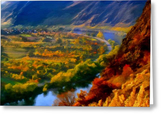 Mosel In The Fall Greeting Card by Michael Pickett