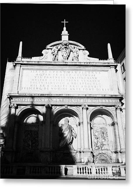 Moses Fountain Fontana Dell Acqua Felice Rome Lazio Italy Greeting Card
