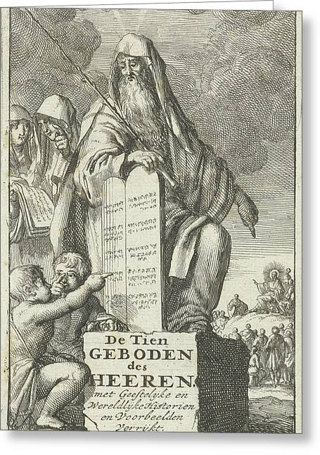 Moses With The Tablets Of Law, Jan Luyken Greeting Card by Jan Luyken And Jan Bouman