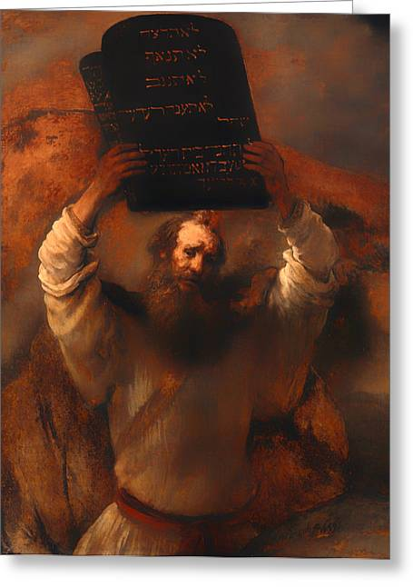 Moses With The Ten Commandments  Greeting Card by Mountain Dreams