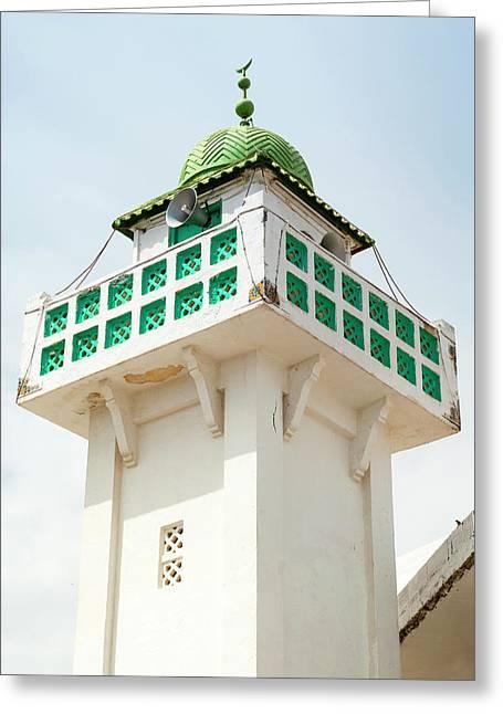 Mosque Minaret, Tabarka, Tunisia, North Greeting Card by Nico Tondini