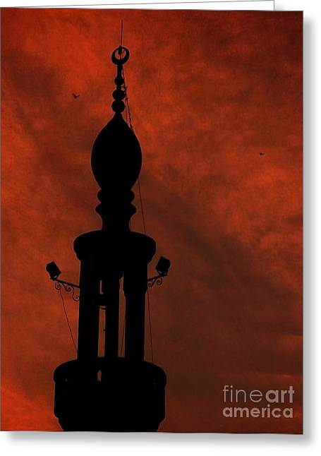 Mosque Greeting Card by Mohamed Elkhamisy