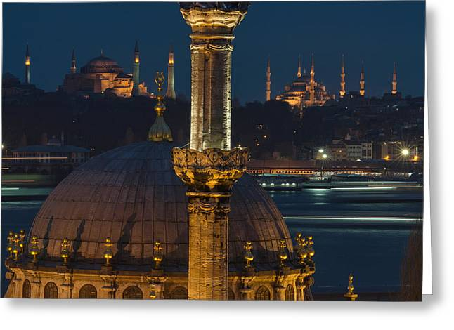 Mosques In Istanbul Greeting Card by Ayhan Altun
