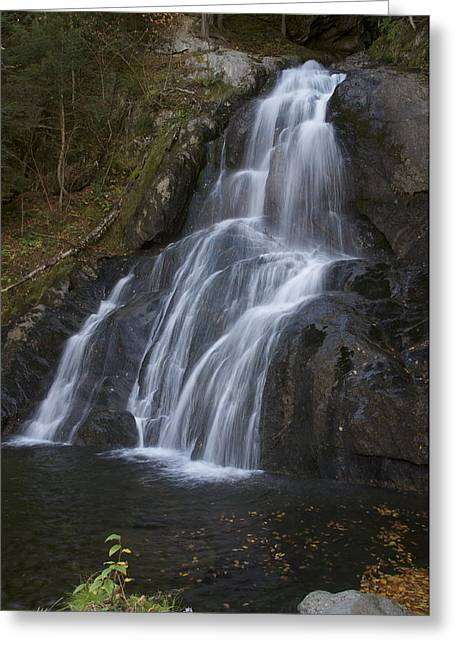 Greeting Card featuring the photograph Moss Glen Falls #1 by Paul Miller
