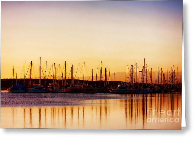 Moss Landing Sunset Greeting Card