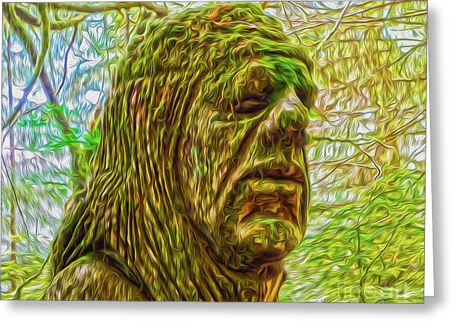 Moss Man - 02 Greeting Card by Gregory Dyer