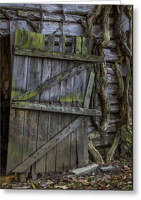 Mossy Barn Door Greeting Card