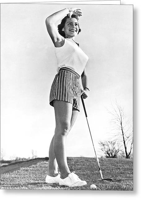 Most Beautiful Golfer Of 1957 Greeting Card