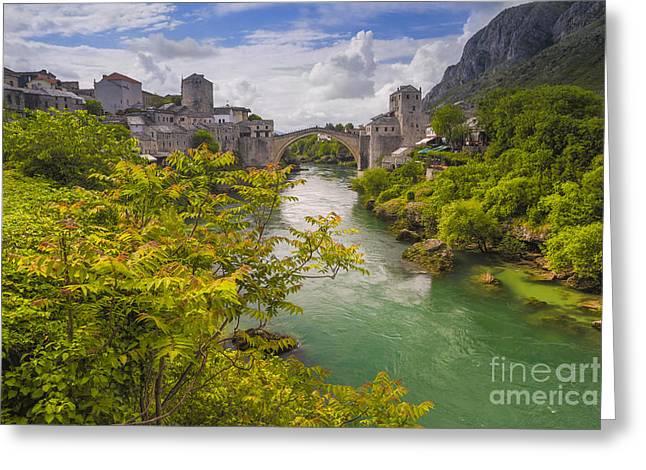 Mostar  Bosna Greeting Card by Todor Bozhkov