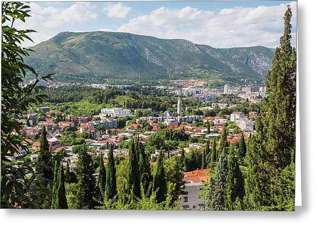 Mostar, Bosnia And Herzegovina. Overall Greeting Card by Ken Welsh