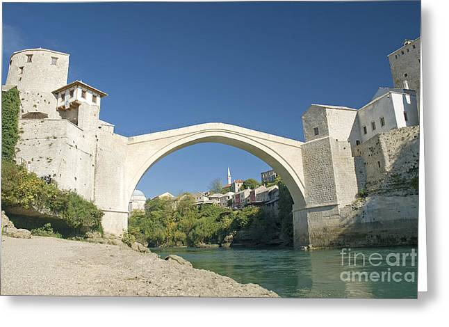 Mostar Bridge In Bosnia Greeting Card