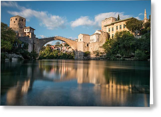 Greeting Card featuring the photograph Mostar Bridge by Okan YILMAZ