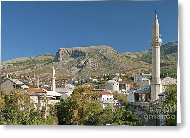 Mostar In Bosnia Herzegovina Greeting Card
