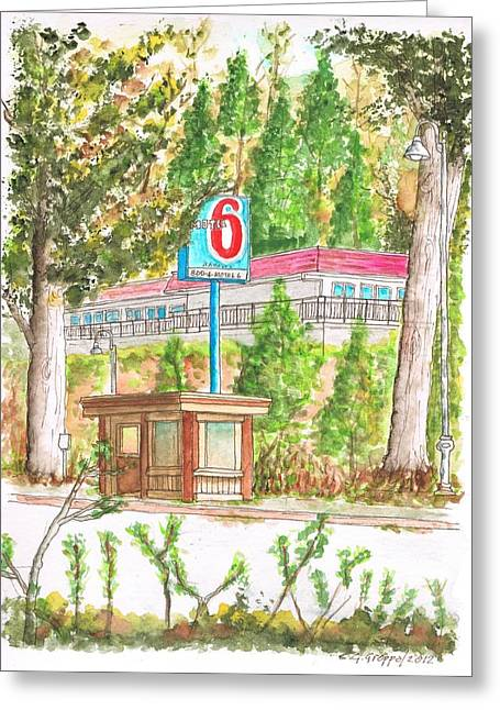 Motel 6 In Mammoth Lakes - California Greeting Card