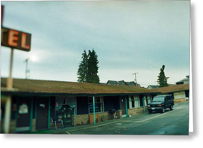 Motel At The Roadside, Aurora Avenue Greeting Card