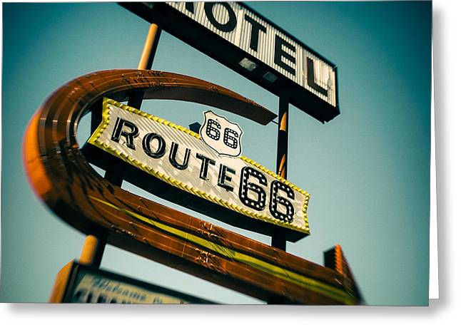Motel Greeting Card by Dave Bowman