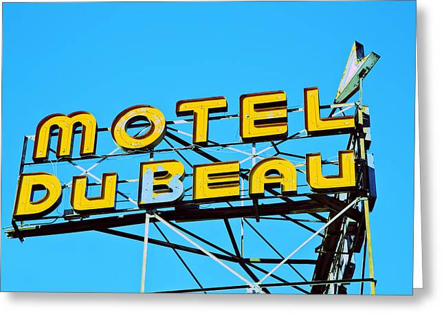 Motel Du Beau Greeting Card