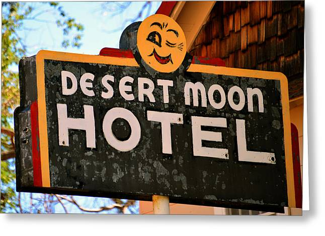 Motel In The Desert Greeting Card
