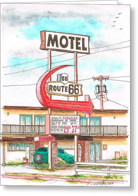 Motel Route 66 In Route 66, Andy Devine Ave., Kingman, Arizona Greeting Card