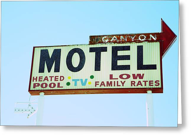 Motel Sign Greeting Card