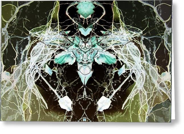 Moth Face 2 Greeting Card