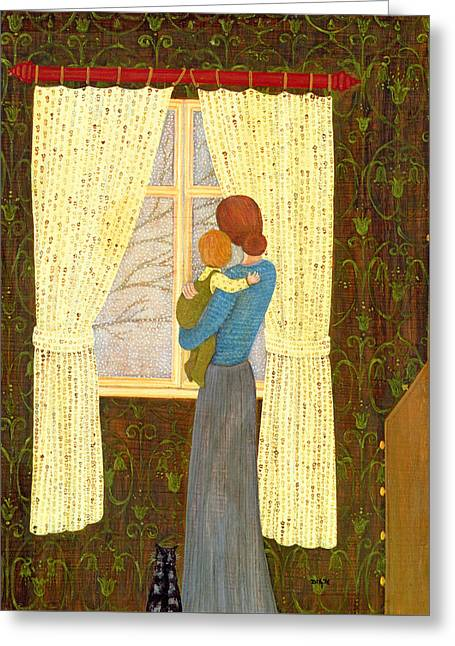 Mother And Child Greeting Card by Ditz